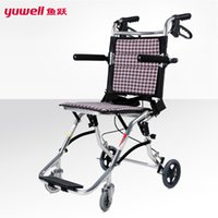 aluminium wheelchair - yuwell handicapped wheelchairs for elderly folding portable wheelchairs for the disabled light aluminium disable wheelchair
