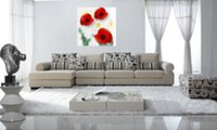 Cheap 3pcs set Framed Free Shipping Modern Home Decoration Abstract red flowers Wall Art canvas Print tree oil painting on canvas