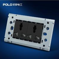 Wholesale POLO luxury wall socket panel V hole Multifunction socket power electrical outlet plug Smart Home