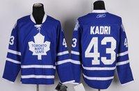 best men apparel - Maple Leafs Nazem Kadri Blue Ice Hockey Jerseys New Hockey Wears Hot Sale All Teams Hockey Apparel Newest Hockey Uniform Best Selling