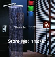 Wholesale LED Thermostatic Shower Set With Chrome Shower Panel And Inch Color Shower Head