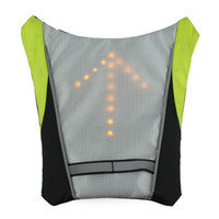 Wholesale Cycling Safety Bicycle Rear Lamp Bike Laser Tail Light LED Cycle Backpack Pilot Lamp Bicycle Lights Reflective Safety Vest