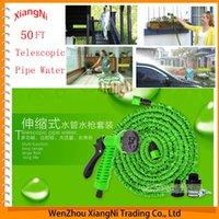 pocket hose - NEW For Retractable Garden Telescopic Magic Hose FT Water Flexible Pocket Expandable Hose reel With Pipe Green Valve Spray Gun