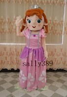 Cheap new Sofia Puzzle Pink Character Cartoon Mascot Costume Adult Size free shipping