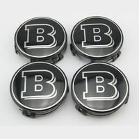 brabus - Brand New Wheel Center Hub Caps Cover mm Diameter Auto Accessories Brabus Vehicle Refitting Black Replacement Parts Set