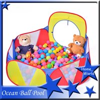 Wholesale Durable Tunnel Ball Pool Three Color Bobo Hexagon Children Ball Play Pool with Carry Tote Ball Sold Separately Great Gift for ANY AGE