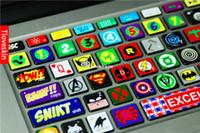 Wholesale Super hero Laptop Skin Decals for Macbook Pro Keyboard macbook sticker macbook decals