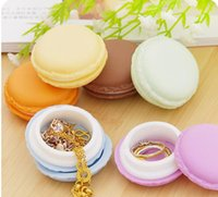 cosmetic storage box - gifts box Cute Candy Color Macaron Mini Cosmetic Jewelry Storage Box Jewelry Box Pill Case Birthday Gift Display