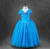 beauty butterflies - 2016Child s Day Cinderella Princess Dress Girls Cosplay Costume Sleeping Beauty Dress With Butterfly Belle Princess Dress Cosplay Costumes