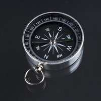 aluminum camping plates - Hot Lightweight Aluminum Camping Travel Mini Compass Hiking Navigation Can been put to your key ring