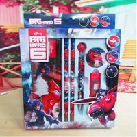 Wholesale 2015 children s stationery stationery Big Hero Stationery Set School Gift set