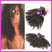 Cheap New Fashion Afro Kinky Curly Hair 3pcs lot Malaysian Curly Hair 8-30'' Human Hair Weaves No Shedding 6A Malaysian Virgin Hair