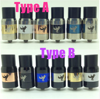 brass horse - dark horse rda clone dripping Atomizer rba ss Brass Black copper blue white mm for ego cigarette mod vs little boy plume veil DHL