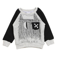 abstract clothing brand - New Arrivals Unisex Children s Kids Pullover Clothing T shirts Raglan Sleeves Cotton Abstract Patterns Spring Autumn KA340 Free Shippin