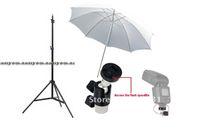 Wholesale Wholesales studio set ft cm Photo Video Light Stands Studio White Soft Umbrella Umbrella Holder Swivel Light Stand