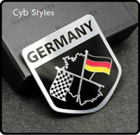 audi motorsport - Metal Aluminium car Emblem Badge Decal Sticker Racing Motorsport Germany German Flag for VW Benz BMW Audi