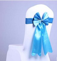 Wholesale Wedding bow Avoid a bowknot chair with elastic chair set back of the chair Hotel ribbon ribbon Wedding props