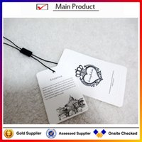 tags for clothing - high quality T shirt paper hang tag for clothing new China hang tag design