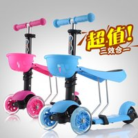 Wholesale Children Kick Scooters Baby Balanced Car Can Lift Can Sit Down Kids Scooters Outdoor Sports Bike Four Colors