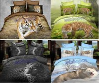leopard print bedding - New Tiger Leopard Style Cotton Reactive Printing Realistic D Cover Bedding Sets SJ8