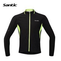 Wholesale Santic Cycling Jackets Winter Long Sleeve Bicycle Coat Bike Clothing Breathable Warm Thermal Cycling Jacket