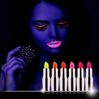 Wholesale Neon Glow Black Light UV Lipstick for Night Club Stage