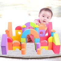 Wholesale Children Train Toys EVA Safety Environment Foam Blocks Building Set Puzzle Childhood Educational Toys Gifts for T T