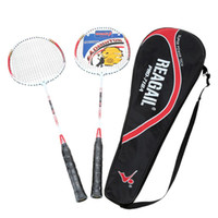 Wholesale Lightweight Badminton Racquet Aluminium Alloy Training Badminton Racket with Carry Bag Sport Equipment Durable