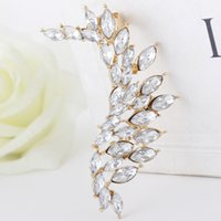ad earrings - exaggerated selling alloy diamond single irregular earhook ear clip earrings popular ADS supply