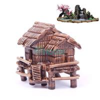 Wholesale Mini Artificial Ornament Ceramic House Shape Aquarium Decoration Fish Tank Decor