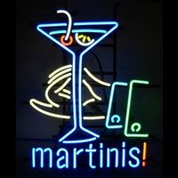 martini glasses - HOT Eagle quot x14 quot Martinis Real Glass Neon Light Signs Bar Pub Restaurant Billiards Shops Display Signboards
