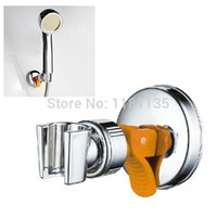 attachable shower heads - Adjustable Attachable Rotatable Chromed Shower Head Holder with Suction Bracket