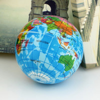 Wholesale World Map Foam Earth Globe Stress Relief Bouncy Ball Atlas Geography Toy TH092 Newest