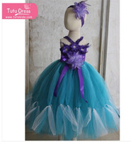 nylon chiffon - 2015 New design baby Girl birthday puffy wedding party dresses for kids green purple with handband
