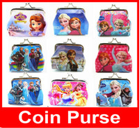 fashion pvc purse - whosale Fashion New Girls D Cartoon Minions Despicable ME Frozen Coin Purses with iron button Bag Wallet Purse Gifts fro Children Hot Sale