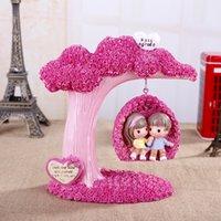antique curtain poles - Wedding birthday gift Zakka cartoon romantic lover swing decoration