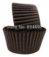 Wholesale Brown Color Big Muffin Bake Cup Oil Disposible Paper Cupcake Liners
