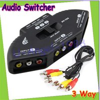 Wholesale Way Audio Video AV RCA Composite Switch Switcher Splitter Cable for XBOX DVD SPC