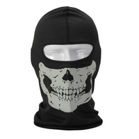 bib hood - Ski Reflective Skull Balaclava Hood Full Warm Neck Face Cycling Windproof Protector Mask