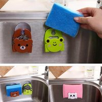 Wholesale New Home Supplies Attractive Cartoon Animal Bear Cat Frog Kitchen Suction Racks