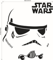 Wholesale Small Size Star Wars Stromtrooper Wall Stickers Decals Star Wars Character Letters Wall Decal Fans Home Decorations Sizes