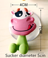 Wholesale New Arrive Cute Cartoon sucker toothbrush holder suction hooks