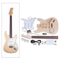 Wholesale Hot Sale New Arrival High Quality Electric Guitar DIY Kit Set Basswood Body Maple Neck Rosewood Fingerboard Single Tremolo Design I1133