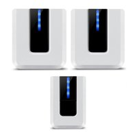 Wholesale 3 Wireless Doorbell Operating at feet Range Battery Operated Plastics White and Black Doorbells