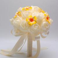 hecho a la medida chicas nuevo diseador ramos nupciales flor dama de honor del ramo amarillas accesorios coloridos de la boda en stock barato ramo zyy