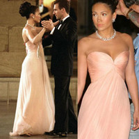 maid in manhattan dress - Top Selling Jennifer Lopez Dresses Maid In Manhattan Prom Dresses Sweetheart Light Pink Long Chiffon Summer New Evening Celebrity Dress MG03