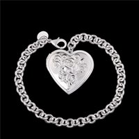beautiful love photos - Beautiful new design silver photo frame Heart Pendant Bracelet Fashion Jewelry Valentine s Day gift