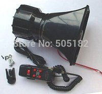 pa speaker - 100W car alarm horn alarm loudspeaker car motorcycle warning alarm police fire siren horn pa speaker systerm amplifier MIC