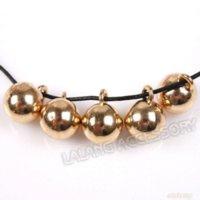 balls handcrafts - 45pcs Smooth Round Ball Like Rose Golden Plated Alloy Charms Fit Handcrafts DIY mm