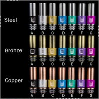 metal letters - M Letter Logo Drip Tip Stainless steel Bronze Copper Penny Drip Tips Metal Mouthpiece Driptips fo RDA Atomizer E Cigarette DHL Free